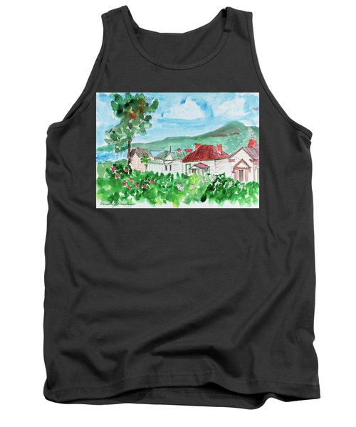 Tank Top featuring the painting View From Battery Point by Dorothy Darden