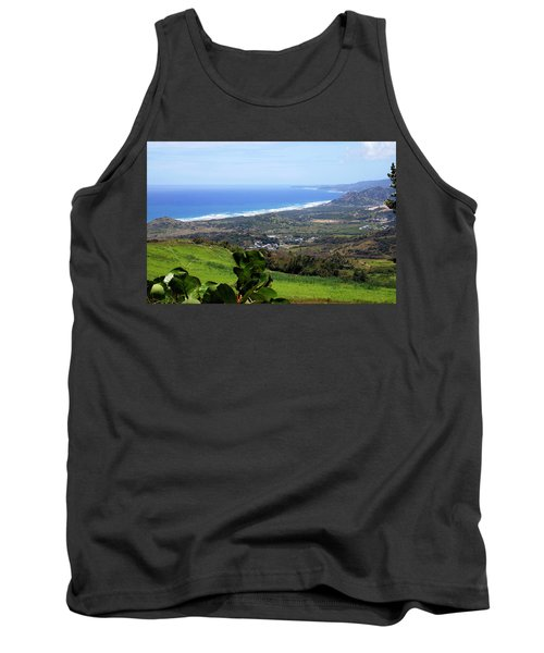 Tank Top featuring the photograph View From Cherry Hill, Barbados by Kurt Van Wagner