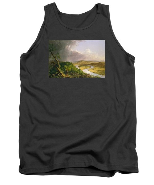 Tank Top featuring the painting View From Mount Holyoke Northampton Massachusetts After A Thunderstorm. The Oxbow by Thomas Cole