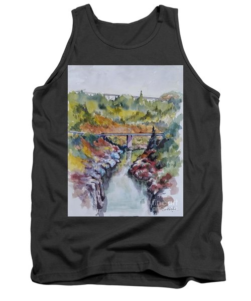 View From No Hands Bridge Tank Top by William Reed