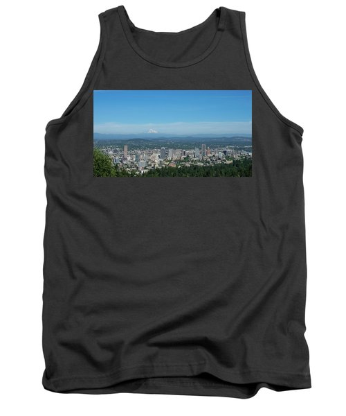 View Of Downtown Portland Oregon From Pittock Mansion Tank Top