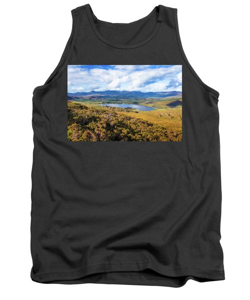 Tank Top featuring the photograph View Of Lough Acoose In Ballycullane From The Foothill Of Macgil by Semmick Photo