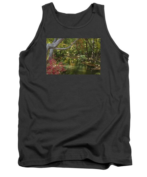 View Of The Mill River Tank Top by Margie Avellino
