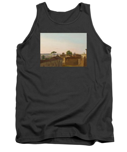 Tank Top featuring the painting View On The Quirinal Hill. Rome by Simon Denis