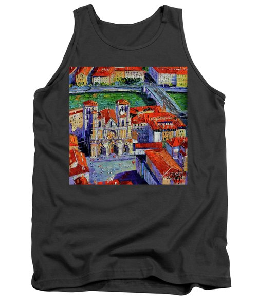 View Over Cathedral Saint Jean Lyon Tank Top