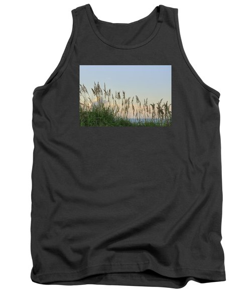 Tank Top featuring the photograph View Through The Sea Oats by Bradford Martin