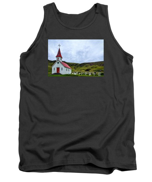 Vik Church And Cemetery - Iceland Tank Top