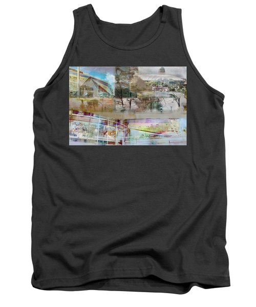 Vikings Stadium Collage 2 Tank Top by Susan Stone