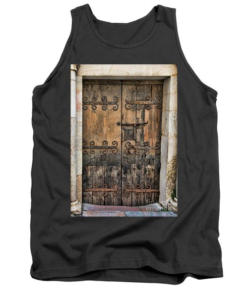 Village Chateau French Old Ancient Door Color  Tank Top