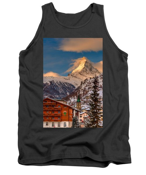 Village Of Zermatt With Matterhorn Tank Top
