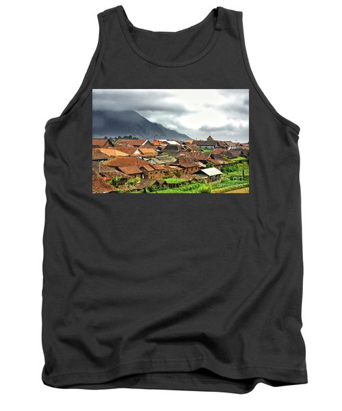 Tank Top featuring the photograph Village View by Charuhas Images