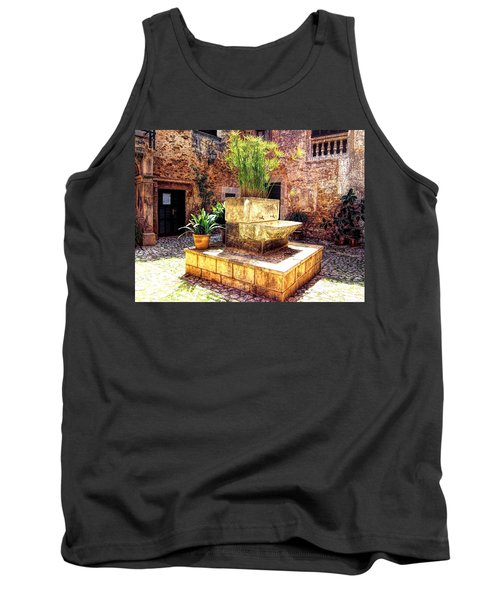 Village Well In Santanyi Tank Top by Andreas Thust