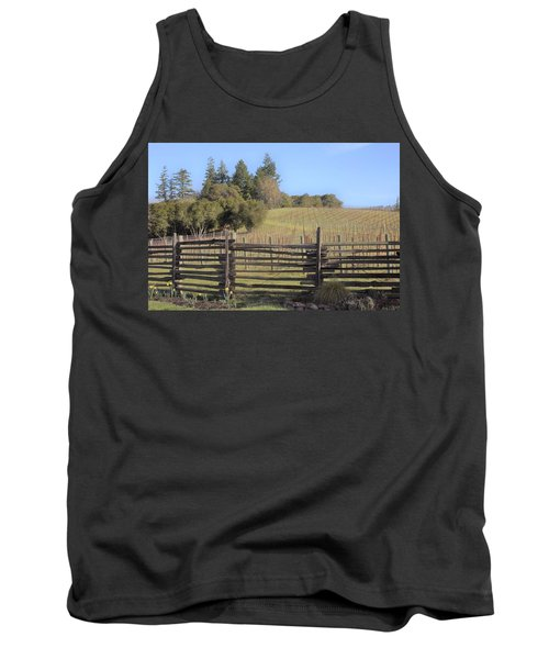Vineyard In The Spring Tank Top