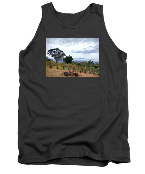 Tank Top featuring the photograph Vineyard Over The City by Haleh Mahbod