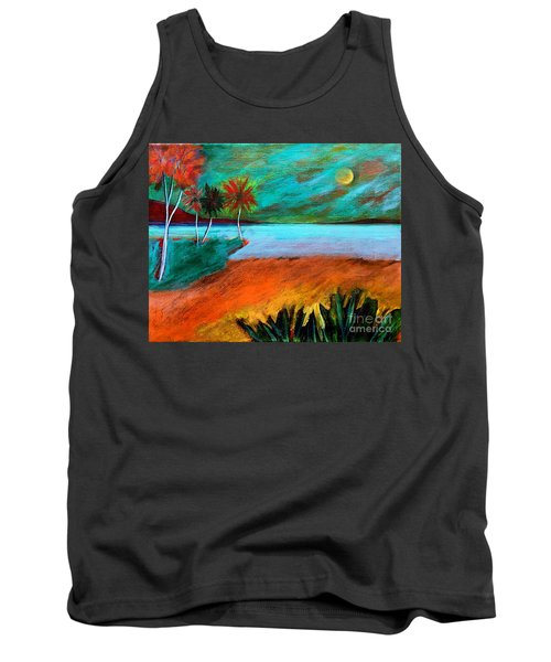 Tank Top featuring the painting Vinoy Park Twilight by Elizabeth Fontaine-Barr