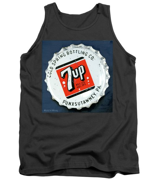 Vintag Bottle Cap, 7up Tank Top