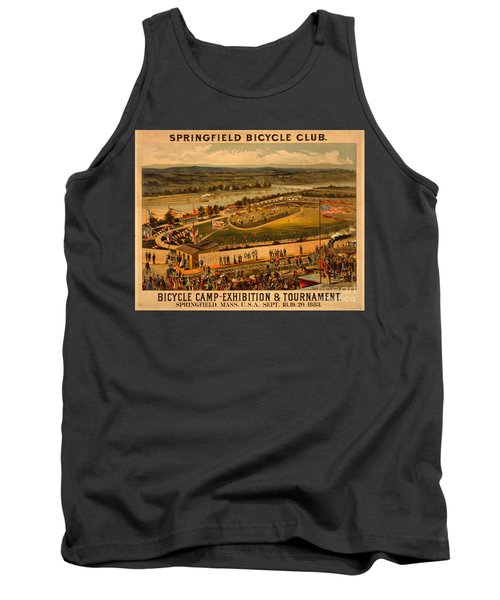 Tank Top featuring the photograph Vintage 1883 Springfield Bicycle Club Poster by John Stephens