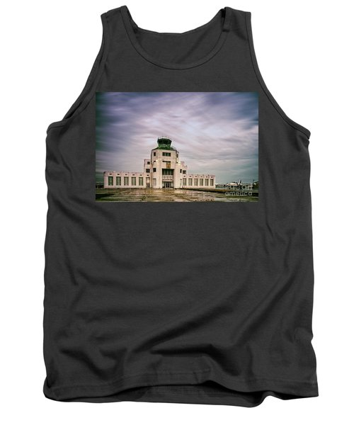 Vintage Architectural Photograph Of The 1940 Air Terminual Museum - Hobby Airport Houston Texas Tank Top