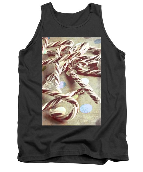 Vintage Candy Canes Tank Top