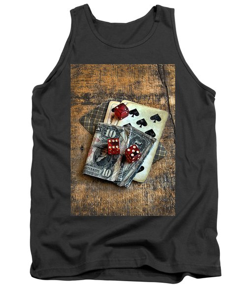 Vintage Cards Dice And Cash Tank Top