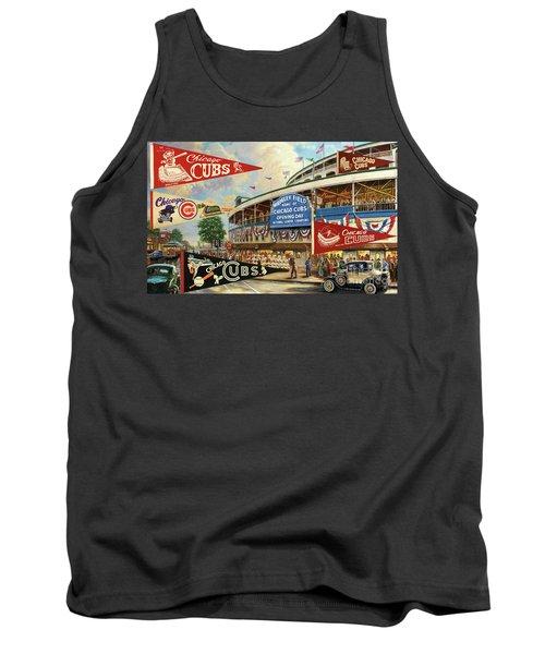 Vintage Chicago Cubs Tank Top by Steven Parker