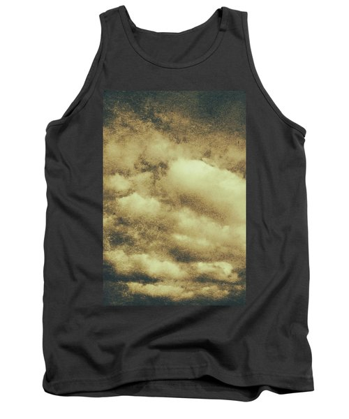 Vintage Cloudy Sky. Old Day Background Tank Top