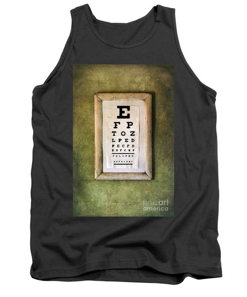 Vintage Eye Chart Tank Top by Jill Battaglia