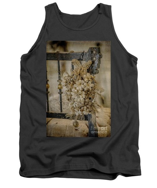 Vintage Floral Swag On A Bedpost Tank Top