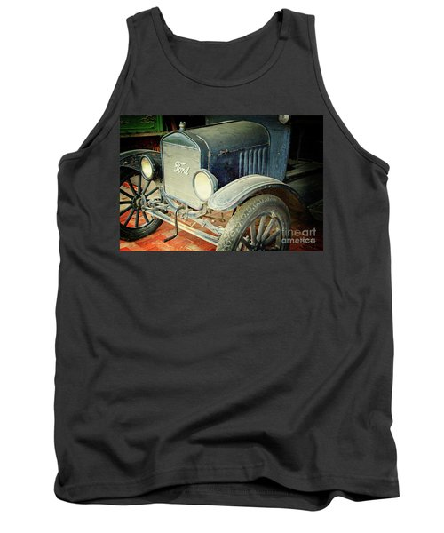 Vintage Ford Tank Top by Inspirational Photo Creations Audrey Woods