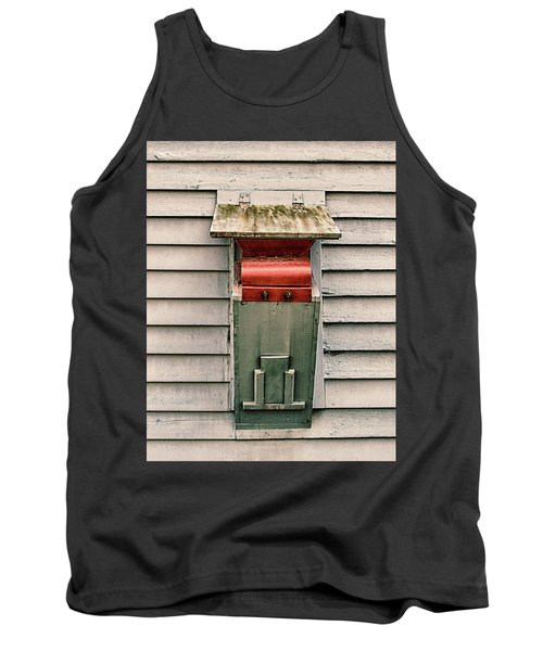 Tank Top featuring the photograph Vintage Mailbox by Gary Slawsky
