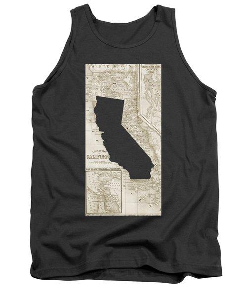 Vintage Map Of California Phone Case Tank Top