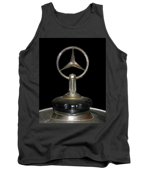 Tank Top featuring the photograph Vintage Mercedes Radiator Cap by David and Carol Kelly