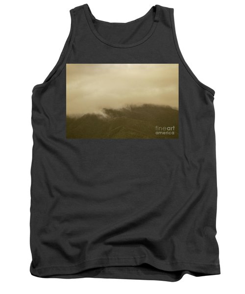 Vintage Mountains Covered By Cloud Tank Top