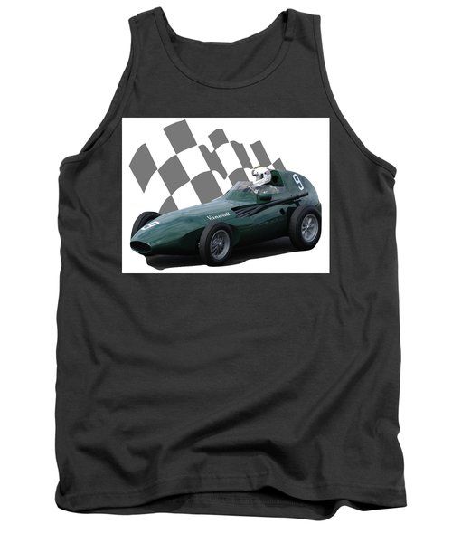 Vintage Racing Car And Flag 5 Tank Top