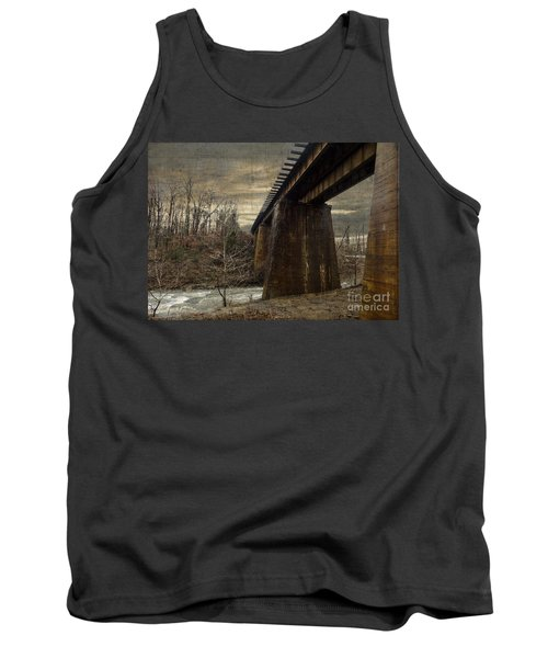 Tank Top featuring the photograph Vintage Railroad Trestle by Melissa Messick