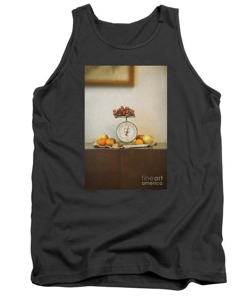 Vintage Scale And Fruits Painting Tank Top