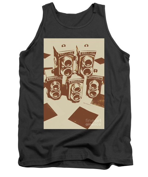 Vintage Snapshots And Old Cameras Tank Top
