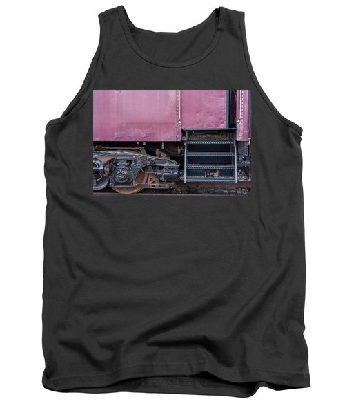 Tank Top featuring the photograph Vintage Train Car Steps by Terry DeLuco