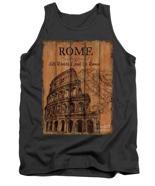 Tank Top featuring the painting Vintage Travel Rome by Debbie DeWitt