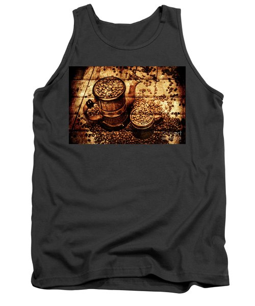 Vintage Wooden Coffee Shop Sign Tank Top