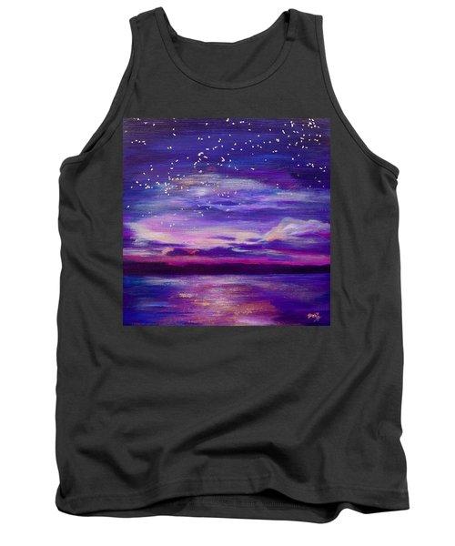 Violet Evening Tank Top