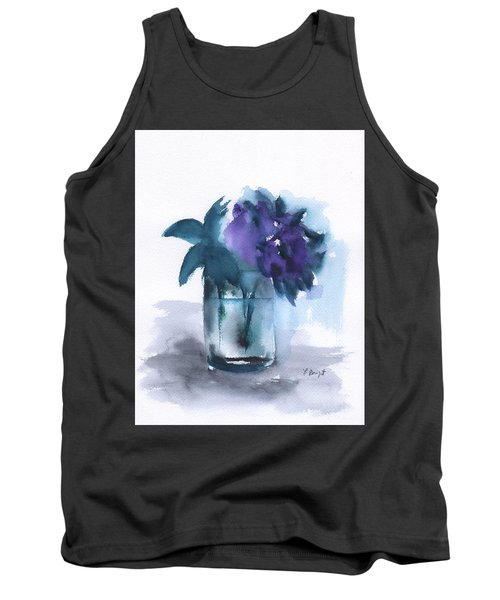 Violets In A Glass Abstract Tank Top