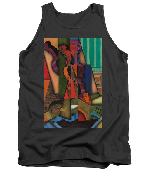 Violin And Guitar Tank Top