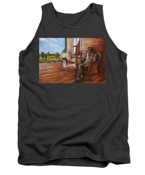 Tank Top featuring the painting Violin Man by Emery Franklin