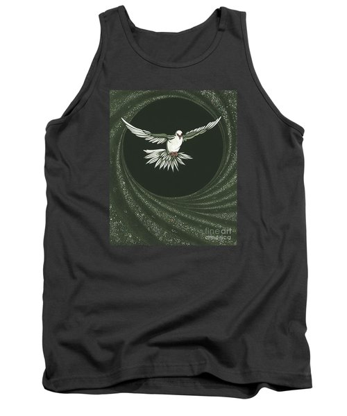 Viriditas-holy Spirit Detail Tank Top by William Hart McNichols
