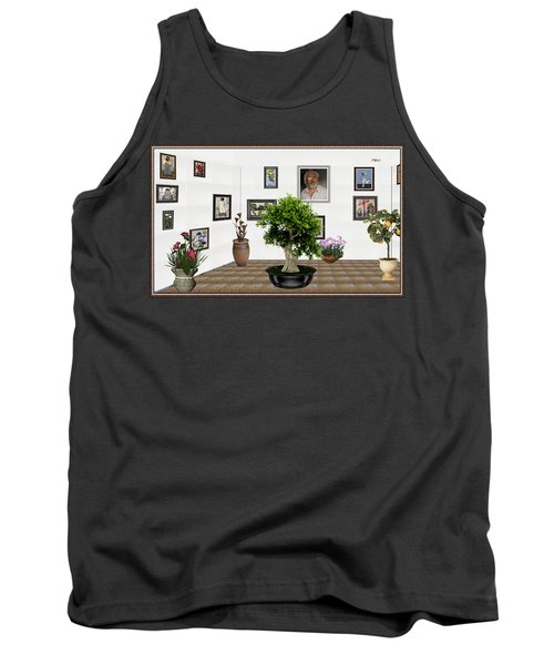 Tank Top featuring the mixed media Virtual Exhibition -  Bonsai 13 by Pemaro