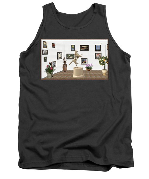 Tank Top featuring the mixed media Virtual Exhibition_statue Of A Horse by Pemaro