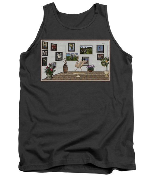 Tank Top featuring the mixed media virtual exhibition_Statue of swan 23 by Pemaro