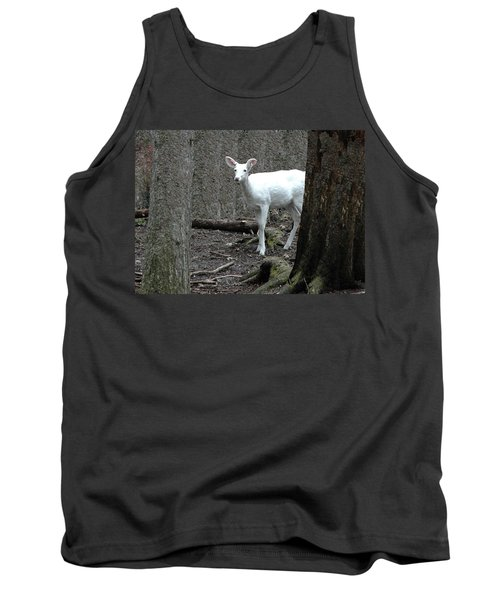 Tank Top featuring the photograph Vision Quest White Deer by LeeAnn McLaneGoetz McLaneGoetzStudioLLCcom
