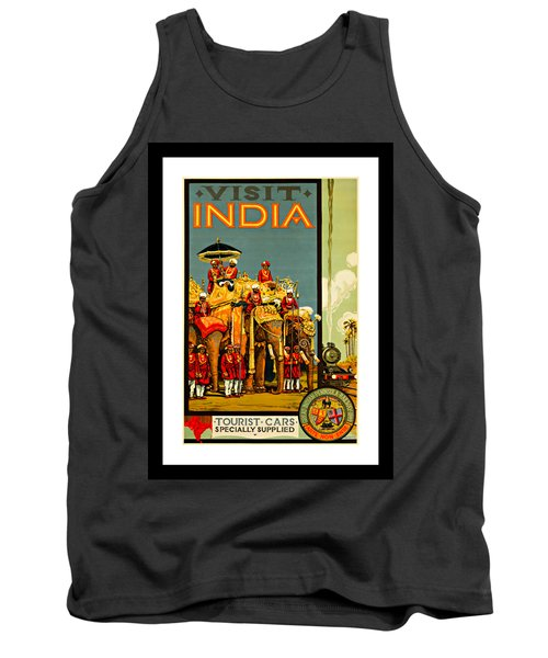 Visit India The Great Indian Peninsula Railway 1920s By A R Acott Tank Top by Peter Gumaer Ogden Collection